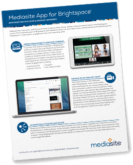 Mediasite App for Brightspace Brochure