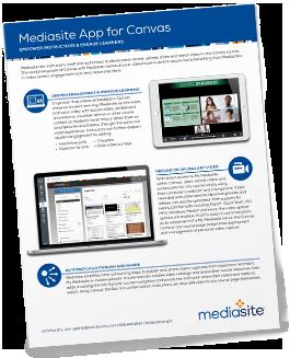 Mediasite App for Canvas Brochure