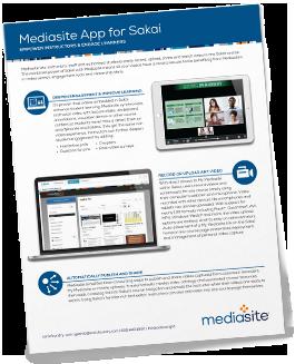 Mediasite App for Sakai Brochure