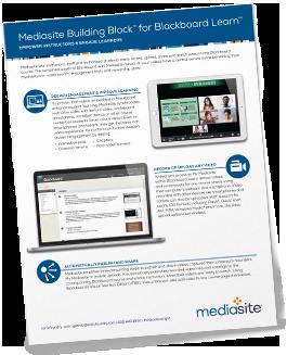 Mediasite Blackboard Brochure