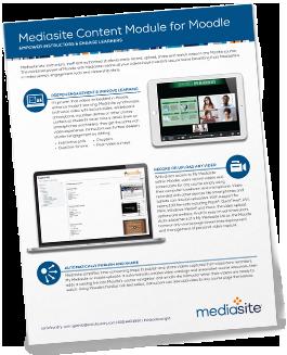 Mediasite for Moodle Brochure