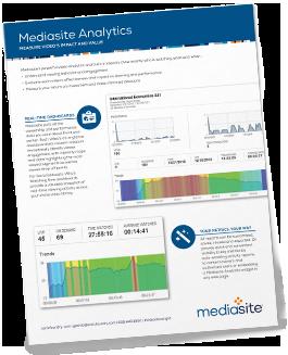 Mediasite Analytics Brochure