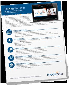 Mediasite Join Brochure
