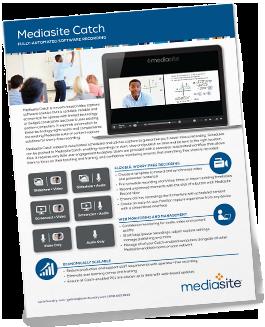 Mediasite Catch brochure