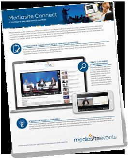 Mediasite Connect brochure