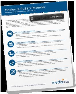 Mediasite RL220 brochure