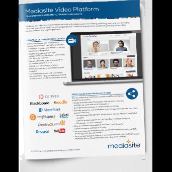 Mediasite Video Platform brochure