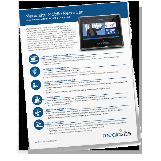 mediasite mobile recorder