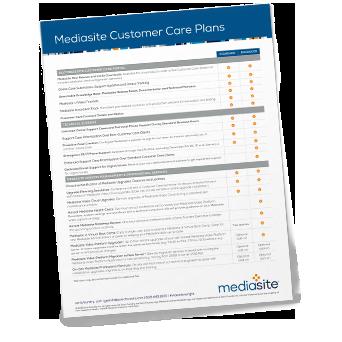 Mediasite Customer Care Brochure