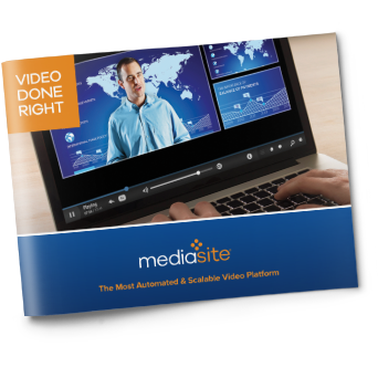 Mediasite Overview Brochure
