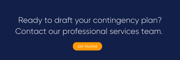 Create a contingency plan with professional services